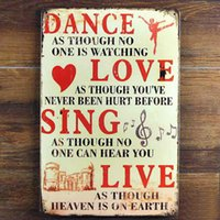 DANCE LOVE SING LIVE Tin Sign Vintage Metal Poster Picture I...