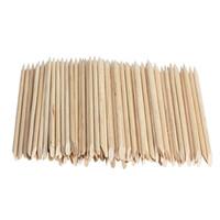 105 ملليمتر 100 قطعة / الحزمة مسمار الفن أورانج الخشب عصا إهاب تاجر مخدرات مزيل الأظافر