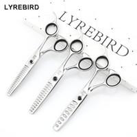 Lyrebird HIGH CLASS Ciseaux professionnels 440C Ciseaux Amincissants Japon 5.75 POUCES 8 Dents 14 Dents 18 Dents NOUVEAU
