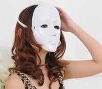 Assustador Rosto Branco Halloween Masquerade DIY Máscara Mime Bola Traje Máscaras de festa de dança frete grátis TY940