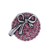 NSB2551 Heißer Verkauf 5 Farben 18mm Snap Schmuckknopf Für Armband Halskette 2015 Mode DIY Schmuck Kristall Bogen Design Legierung Snaps noosa
