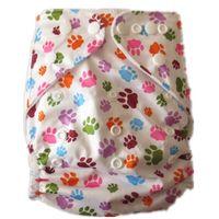 スナップベビークロスおむつを調整します。再利用可能なプリント赤ちゃん布おむつ、ワンサイズのポケットおむつ、布のおむつ素敵な赤ちゃん送料無料