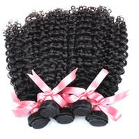 カーリーブラジルのバージンヘアバンドル卸売ディープカーリー人間の髪の毛織りウェーブの髪延長10ピース/ロットgreatremyファクトリー速い出荷