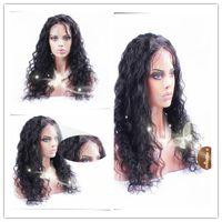 свободная волна glueless полный парик шнурка фронта шнурка парик малазийский девственные волосы с волосами младенца для черных женщин
