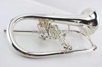 الآلات الموسيقية الأمريكية Bach Flugelhorn المطلية بالفضة B Flat Bb Professional البوق الأعلى الآلات الموسيقية في القرن Trompete