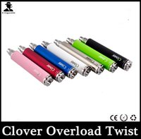 Cigarette Clover Overlord Twist Batterie 2600mah Twist Tension Variable Ego vv E Cig Batterie plus grande capacité PK Vision Spinner Batterie