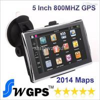 Kostenloser Versand 5 Zoll Auto GPS Navigation MTK MS2531 800 MHz 912S CPU FM Transmitter WinCE 6.0 RAM 128 MB Build in 4 GB Flash mit neuen Karten