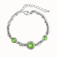 Mode 925 Ruban Bijoux breloque Cœur de Bracelets de Bracelets de Verre Bleu de l'Océan Style Perles s'adapte Pandora bracelets pour les Femmes Livraison Gratuite