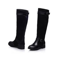 high boots tube sleeve round head with women chunky heel for...