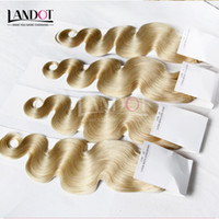 Grade 9A Color 613 Bleach Blonde Russian Virgin Human Hair Weaves Bundles Russian Body Wave Remy Hair Extensions 3/4 Pcs Can Dye all Colors
