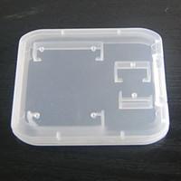 Новый полезный 2 в 1 прозрачный белый пластиковый корпус для TF Micro SD карты памяти держатель карты памяти Box хранения портативный