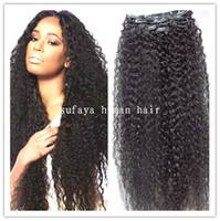 brazilian virgin curly hair weft clip in kinky curl weaves u...