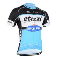 2015 EtixxクイックステッププロチームブラックブルーQ17のみ半袖ROPA CICLISMOシャツサイクリングジャージサイクリングウェアサイズ:XS-4XL