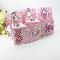 bonbonnière sac paquet de cadeau de papier au chocolat pour la fête de mariage d'anniversaire faveur décor fournitures de bricolage bébé douche rose / bleu bouteille de soins infirmiers etc.