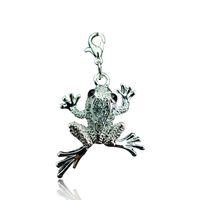 Gros Haute Qualité Flottant Charmes De Mode Strass Grenouille Lobster Clasp Animaux Charmes DIY Pendentifs Bijoux Accessoires