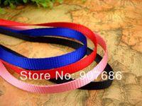 Großhandels-Neuer Haustier-Welpen-Leine-Geschirr-Seil-Hundeleine-Trainings-Führungskragen-Hundeschnur für kleine Hunde blaues Schwarz-Rosa RedV3402