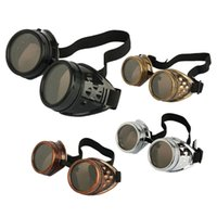 Cyber Goggles Steampunk Sunglasses Welding Goth Cosplay Vint...