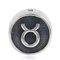 12 costellazioni perline d'argento 100% 925 sterling silver Toro perline adatto europeo Pandora Charms braccialetto 2015 cina gioielli fai da te bordare