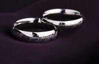 Rétro le seigneur des anneaux Soild cadeau d'anneau de mariage d'amour magique d'argent sterling 925