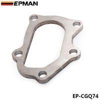EPMAN - Alta calidad para TD04 Subaru Turbo Turbine to Dump pipe Flange 9mm stock de acero inoxidable EP-CGQ74