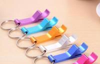 Porte-clés en métal sur mesure Bouteille de bière ouvreurs Bar boissons wrench ouvre-bouteille Porte-clés Porte-clefs Laser Gravé peut Logo