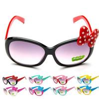 moda Bambini Occhiali da sole per bambini Princess cute baby Baby Cartoon Bowknot Occhiali Occhiali da sole Goggle 8 COLOR KKA3337