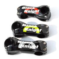Black Knight carbono estrada da bicicleta de estrada haste de bicicleta MTB ciclismo partes de caule Fibra de Carbono 31,8 * 70 80 90 100 110 120 130 milímetros ângulo 6 ou 17 graus