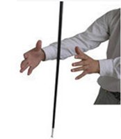 Free shipping Aluminum Dancing cane (Black) Magic Tricks, Ma...