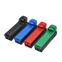 플라스틱 롤링 인젝터 8mm 롤링 기계 수동 담배 롤러 담배 제조기 튜브 일반 크기 튜브 색상 무작위