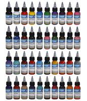 40pcs / set colori della miscela 30ml del tatuaggio della miscela (1OZ) bottiglia di pigmento manuale del tatuaggio di trucco permanente dell'inchiostro