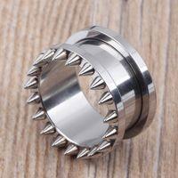Mix 5 ~ 18mm 80 adet / grup SPike overstate perçin vida eti tünel paslanmaz çelik kulak tıkacı piercing vücut