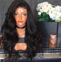 Vücut Dalga 360 Dantel ön peruk Ön Koparıp Hairline 180% Yoğunluk Siyah Kadınlar Için Perulu Bakire İnsan Saç Dantel Ön Peruk