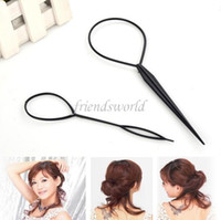Magic Grand Petit Topsy Tail Hair Tresse Ponytail Styling Maker Outil DHL Livraison Gratuite 2pcs / pack