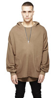 Kanye Oversize Hoodies Hooded Long Sleeved Tops Fashion Casu...