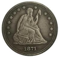 1871-CC Seated Liberty Quarter COPIEZ L'EXPÉDITION GRATUITE