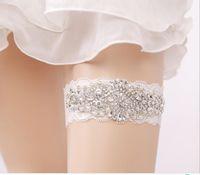 Batı Gelin Çorap Garters Bacak Yüzükler Düğün Aksesuarları Seksi Dantel Beyaz Açık Mavi Renkler Ücretsiz Boyutu