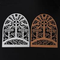 1 Stücke Fenster Bogen Schablonen Metall Stanzformen für DIY Scrapbooking Fotoalbum Papier Karte Erstellung Ordner