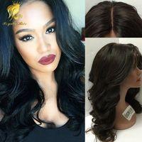 Оптовая цена шелковая основа волнистые бразильские человеческие волосы Glueless полный парик шнурка передняя парик шнурка средняя часть лучший парик человеческих волос 130 density