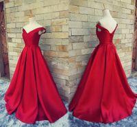 Gerçek Resimler Kırmızı Uzun Kaçak Kırmızı Halı Abiye Kadınlar Örgün elbise ile Kapalı Omuz Kat Uzunluk Saten Balo Abiye Parti için