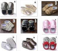 16 Style Baby PU Leather Shoes Moccasins Soft Shoe freshly- p...