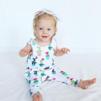 Bébé barboteuse 2018 coton d'été vêtements de bébé nouveau-né vêtements cactus impression barboteuse combinaison enfants vêtements tenues bébé filles garçons vêtements
