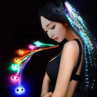 Lumineux Light Up EXTENSION DE CHEVEUX LED Flash BRID FILLE FILL GLOW BLOW DE FIBRE OPTIQUE POUR LA PARTIES Décoration de la nuit de nuit