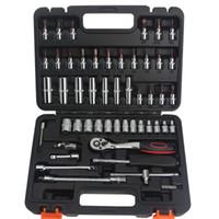 Vendita Worth calda per comprare 53 pc di riparazione chiave a tubo Set Auto strumento chiave a cricchetto Set utensili a mano Combinazione Household Tool Kit T01003