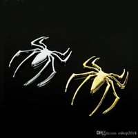 Moda 10 unids / lote Metal Truck Car Sticker Decor Styling Cool 3D Spider Emblem solid Cars Trucks Logo Stickers Decal Envío libre acceso al coche