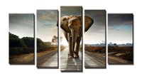 YIJIAHE Painting Modern Wall Art, elephant Picture Print on C...