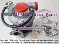 TD05-20G TD05 20G 8 TD05-20G-8 Turbo Turbocompressor Turbina Para SUBARU Impreza WRX STI EJ20 EJ25 2.0L MAX 450HP com juntas e montagem da tubulação