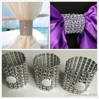 Silver Beaded Crystal Wedding Party Table Decoration Napkin ...