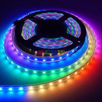 Comercio al por mayor 500M 100X5M Nueva Junta WS2812B WS2812 60LEDs / M LED Luz de Tira Negro PCB Impermeable IP67 Individual SMD 5050 DC5V