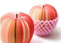 Fruta em forma de bloco de notas de memorando almofada