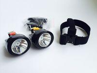 60 штук / лот портативный KL2.8LM (а) Открытый беспроводной беспроводной светодиодный светодиодный фар горы охотничьи легкие лампы лампы шахтер шапка свет бесплатная доставка